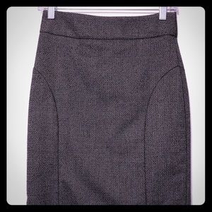 Banana Republic dark gray tweed pencil skirt